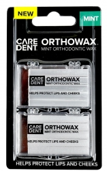OrthoWax Orthodontic Wax Mint - 2pcs - Click for more info
